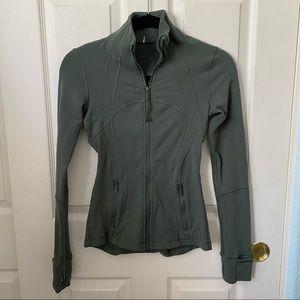 Lululemon dark forest Green Define Jacket size 2